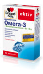 Допелхерц Актив Омега-3 с Фолиева киселина и Витамин Б капсули x60 (Doppelherz Omega-3+Folic acid)